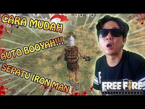 AUTO BOOYAH SEPATU IRON MAN ( Explosive Jump ) - Garena Free Fire