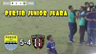 Hasil Persib U-16 vs Bali United U-16 Cuplikan Gol Pro Elite Academy