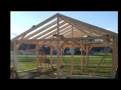 24x30 horse barn build