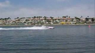 APBA Pro Stock Flatbottom Battles at Sprint Boat Races at Long Beach Marine Stadium