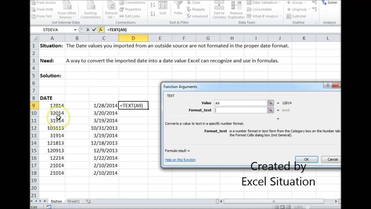 Excel Date Conversion
