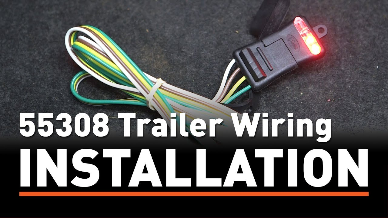 Trailer Wiring Install Curt 55308 Taillight Converter On A Toyota Camry