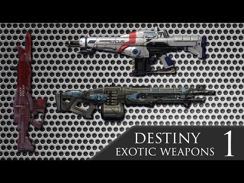 Destiny all exotic weapons guide part 1 machine guns auto rifles