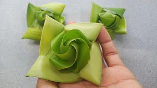 Cách làm hoa sen bằng lá dừa đơn giản đẹp ( c4) #TOITNT