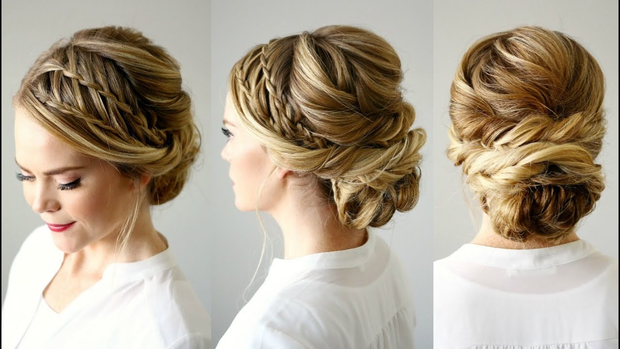 Double Waterfall Braid Updo Missy Sue Youtube