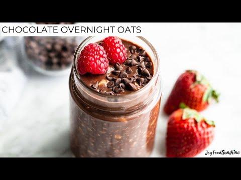 Healthy Chocolate Overnight Oats Recipe