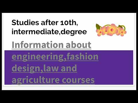 Studies After 10th Inter Degree Information About Engineering Fashion Design Law Agriculture Courses Youtube