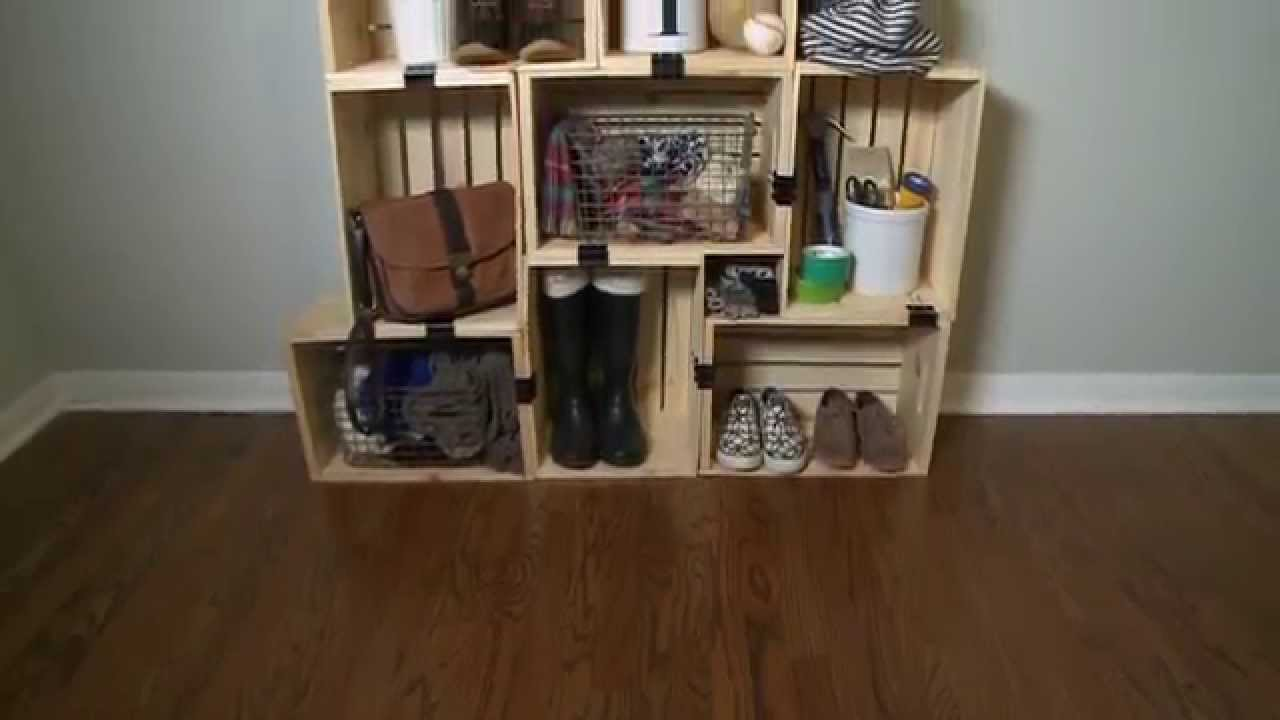 Lovely How to Build a Shelving Unit with Crates - YouTube MH28