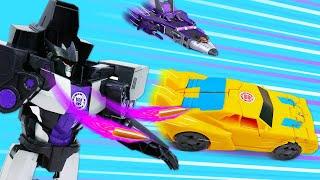 Автобот Бамблби против Десептиконов! - Трансформеры в видео сборнике. Игры гонки для мальчиков