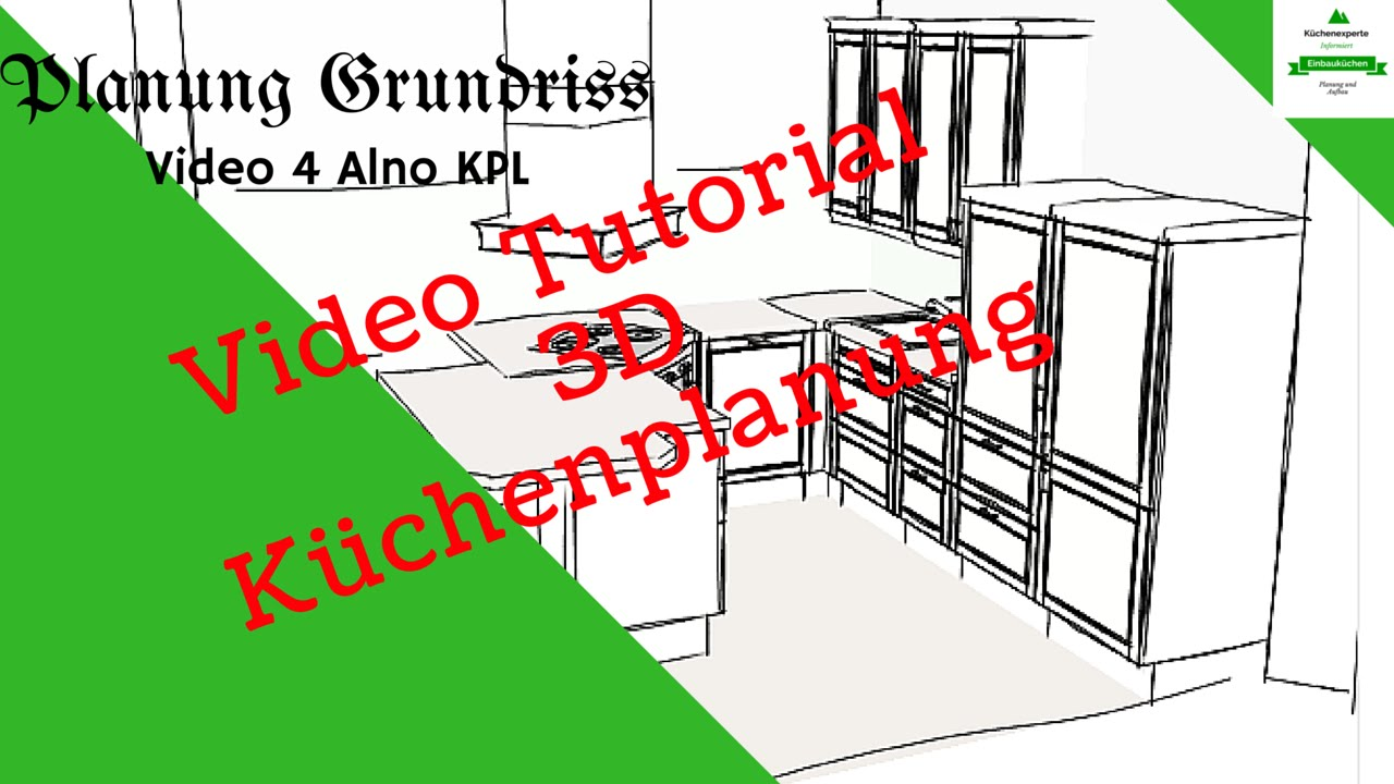 3d k chenplaner alno kpl 2 video grundriss tutorial youtube. Black Bedroom Furniture Sets. Home Design Ideas