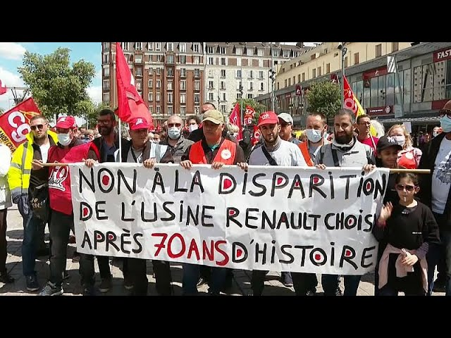 <span class='as_h2'><a href='https://webtv.eklogika.gr/' target='_blank' title='Διαδήλωση στην Γαλλία για την Renault'>Διαδήλωση στην Γαλλία για την Renault</a></span>