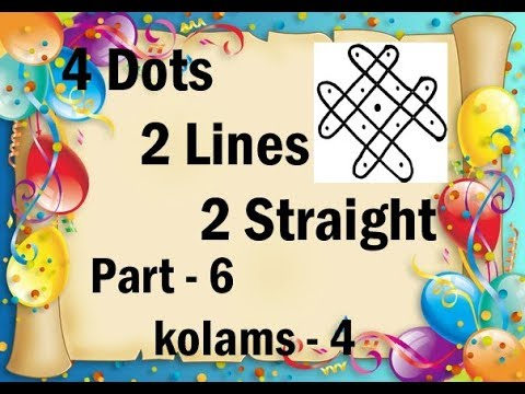 4 Dots  2 Lines  2 Straight - part 6