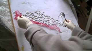 Repeat youtube video Acrylmalerei 1 Abstract acrylic Painting 1 Spachtelmasse Modelling paste