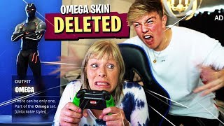DELETING MORGZ *NEW* $500 FORTNITE SKIN!! (Season 4 Omega Skin Fortnite Prank)