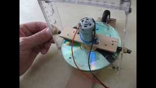Self Balancing Gyroscope on Two Inline Wheels