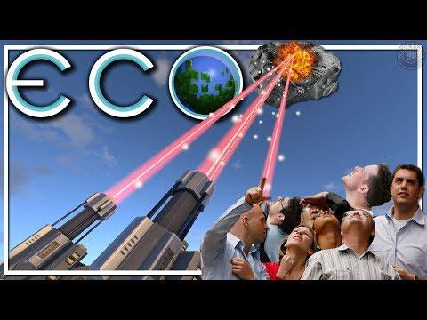 Meteor Destruction! Server Tour | ECO Gameplay