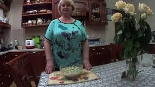 ФРАНЦУЗСКИЙ САЛАТ « МАДАМ»  с курицей, виноградом , ананасами и орехами (праздничное блюдо).