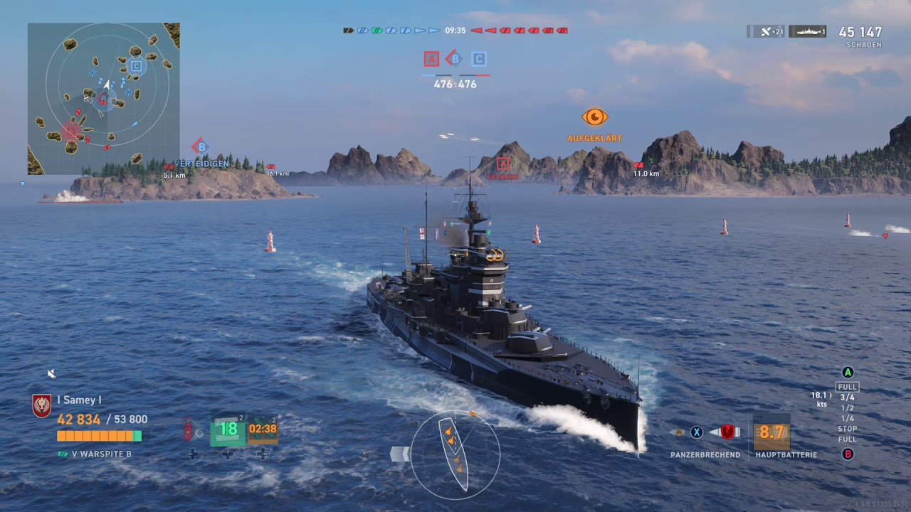 """World of Warships Legends -- Ranked Battles with the """"Warspite B"""" - YouTube"""