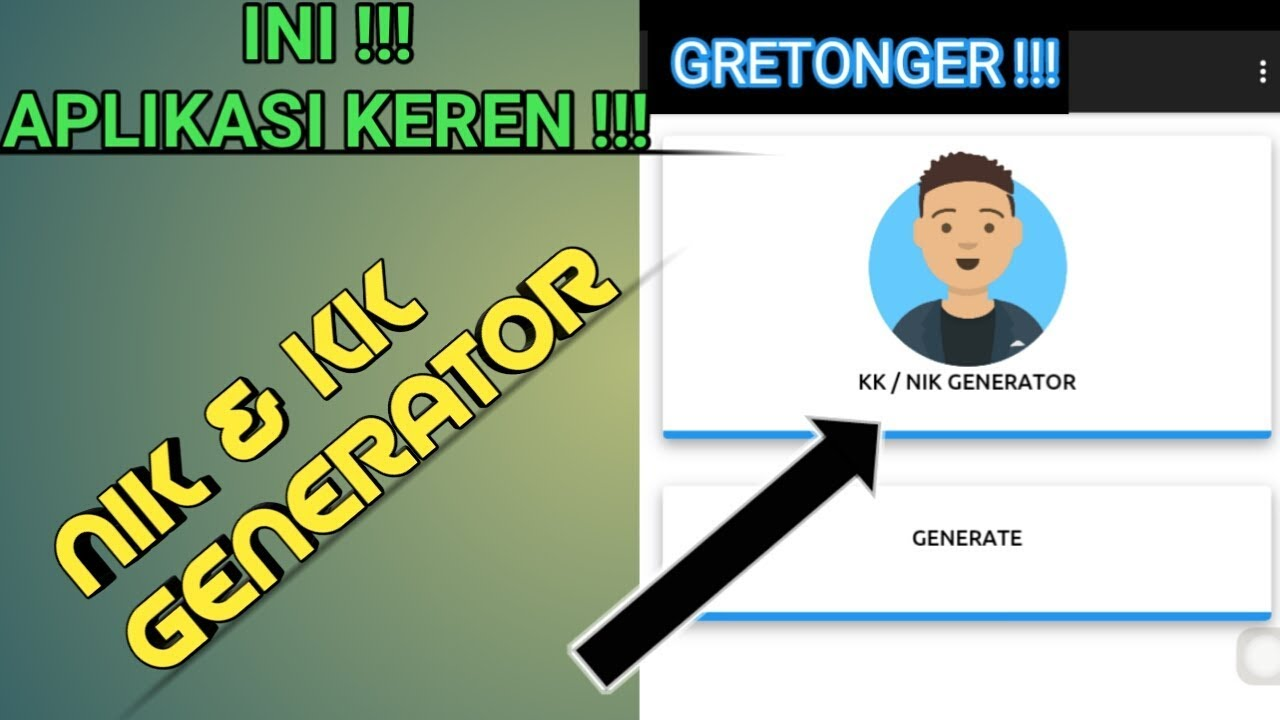 Ini dia !! Aplikasi tols nik & KK generator