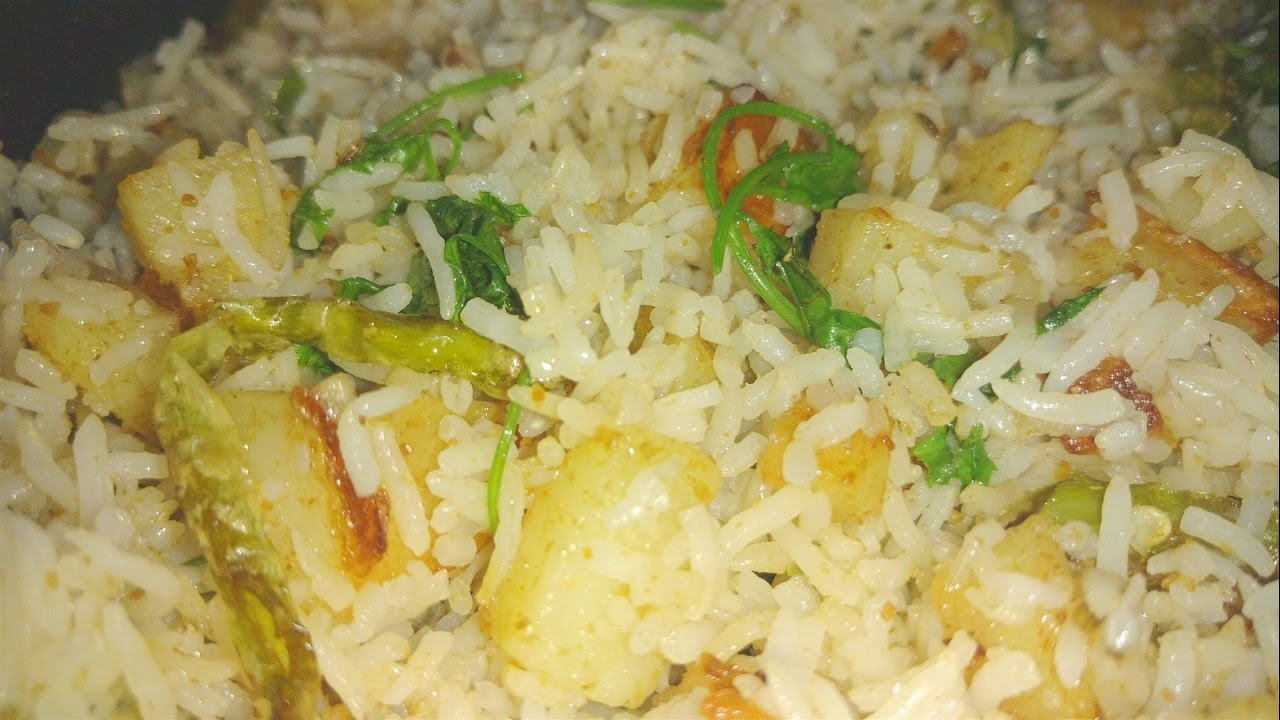 How to make spicy aloo rice aloo fried rice recipe spicy potato youtube premium ccuart Image collections