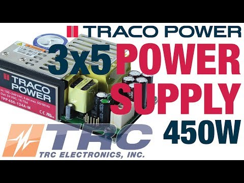 TRACO Power TPP 450A Power Supply | 3x5 Medical Power Supply | 450 Watts Power Supply