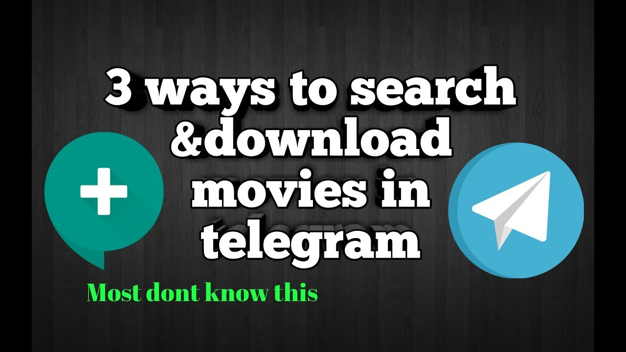 3 WAYS TO SEARCH AND DOWNLOAD MOVIE IN TELEGRAM -ENGLISH -JeF Leo