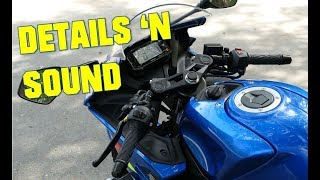2018 Suzuki GSX-R125 Details and exhaust sound