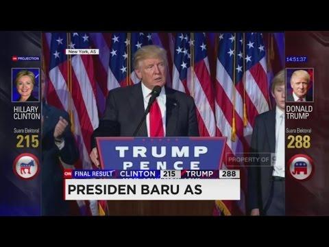 (FULL) Pidato Kemenangan Donald Trump, Presiden Terpilih AS