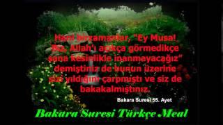 Bakara suresi Türkçe meal 49,50,51,52,53,54,55,56 ve 57. ayetler