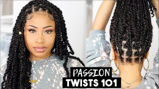 EASY & NEAT PASSION TWISTS (rubber band method)