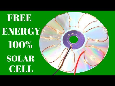 Free Energy Solar Cell - How To Make Free Energy 100% - Free Energy Using CD Flat