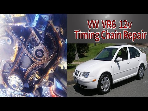 VW VR6 Timing Chain Repair - Start to Finish - Jetta Golf 2.8L 12v