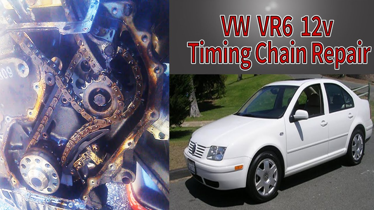 hight resolution of vw vr6 timing chain repair start to finish jetta golf 2 8l 12v