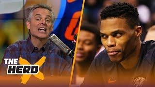 Colin on Westbrook's 20-reb game to end the regular season, the 76ers winning streak | THE HERD
