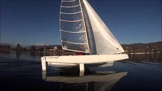 The fastest Sailing Yacht on Earth in 1 knot breeze