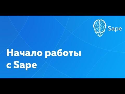 Обучающее видео по работе с Sape. Начало работы.