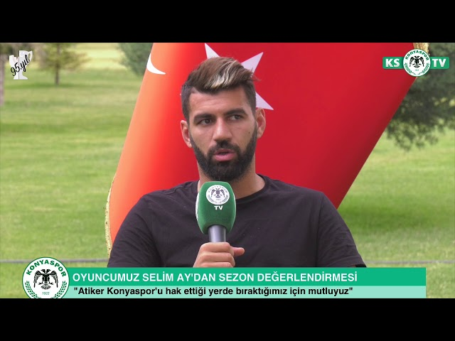 """Oyuncumuz Selim Ay, """"İnşallah Atiker Konyaspor bir daha bu durumları yaşamaz"""""""