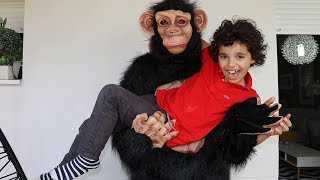 KIDS And The Monkey Fun Kids Video