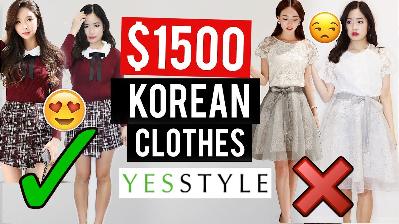 $1500 OF KOREAN CLOTHES Try-On HAUL from YESSTYLE