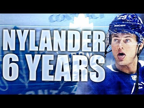 WILLIAM NYLANDER RE-SIGNS FOR 6 YEARS, 6.9 MILLION DOLLARS (TORONTO MAPLE LEAFS WILLIAM NYLANDER)