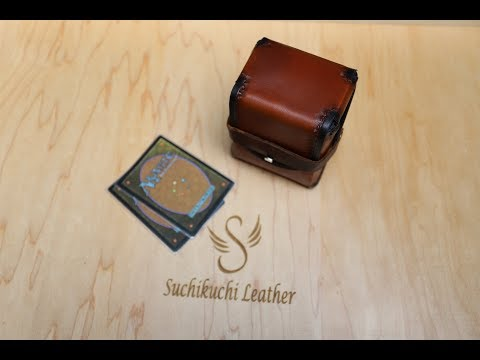 Leather Deck Box Time Lapse | TCG Deck Box | Table Top Gaming Deck Box