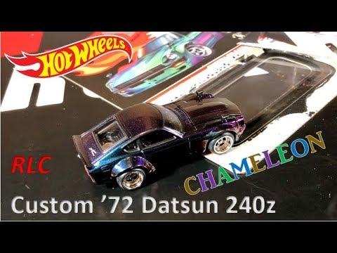 HOT WHEELS 2019 RLC Custom Datsun 240z - Chameleon! WOW!!! Open & Review