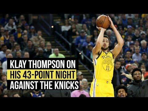 Klay Thompson on his 43-point night