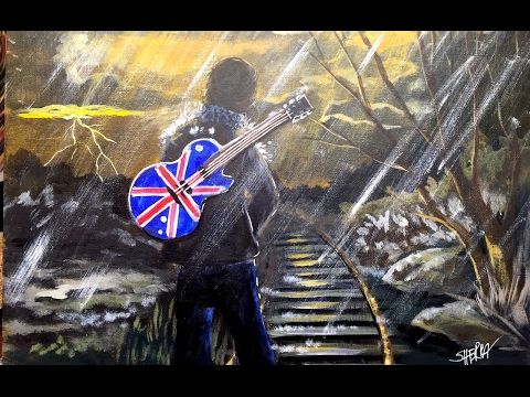 London is calling Angelooney Step by Step Acrylic Painting on Canvas for Beginners