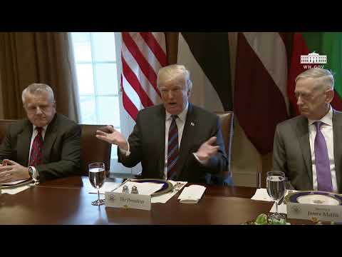 President Trump Participates in a Working Lunch with the Baltic States Heads of Government