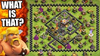 """Clash Of Clans   WEIRDEST BASE EVER SEEN IN CoC """"THE CUBE"""" 2016!   So Many Upgrades!"""