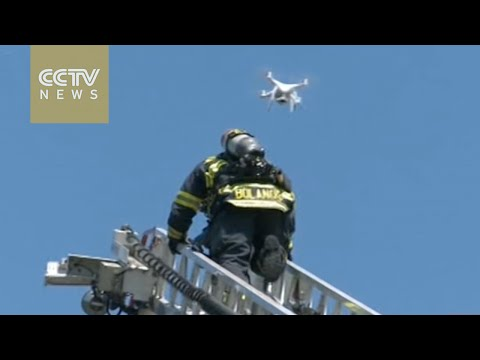 California firefighters use drones to aid rescue