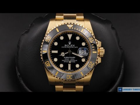 rolex-submariner-date-116618ln-black-dial-40-mm-yellow-gold-|-4k-|-by-ocwatchguy