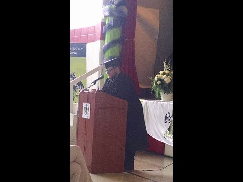 Graduation Speech, Aaron Lee, Commencement John Dewey Academy of Learning