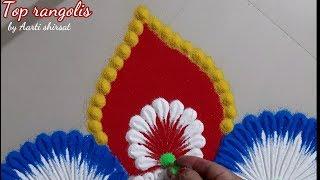 Diwali festival rangoli design by Aarti shirsat | Top rangolis